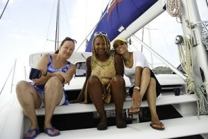 Ladies enjoying the sail