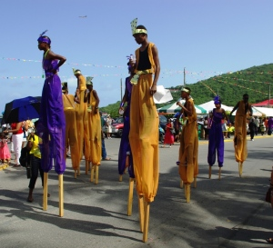 Moko Jumbies (People on Stilts)