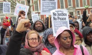 Trayvon Martin Protest at the American Embassy in London